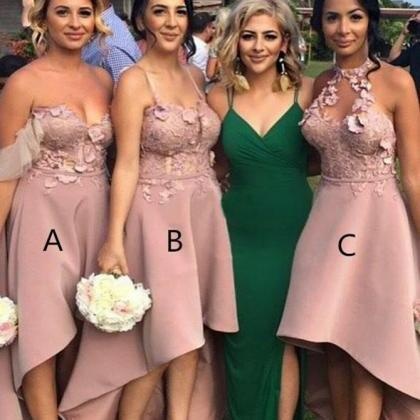 Bridesmaid Dresses A-Line, Applique..