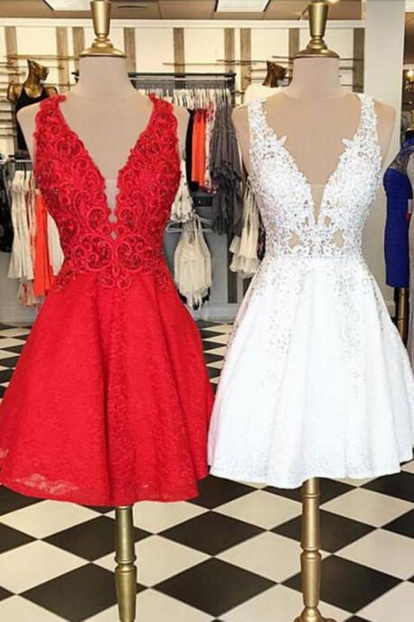 V-Neck Scoop Prom Dresses