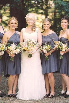 Charcoal Gray Bridesmaid Dress
