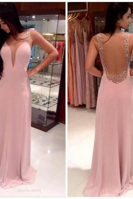 V-Neck Prom Dress, Sexy Prom dress, Long prom dress, Online Prom dress,PD380057