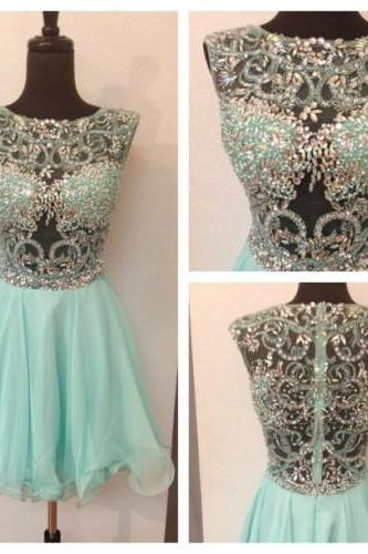 Short Homecoming Dresses,Short Prom Dresses,Short Bridesmaid Dresses,Blue Prom Dresses,Evening Dresses 2017,PD380033