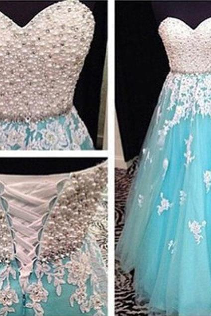Sweetheart Prom Dress,Beading Prom Dress,Appliques Prom Dress,A-Line Prom Dress,15040120