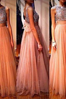 long prom dress, champagne prom dress, 2017 prom dress, custom prom dress, dresses for prom,15040708