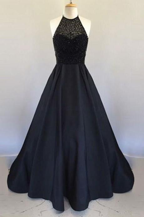 New Style Elegant Prom Dress Black Prom Gown,Prom dresses 2017,Prom dresses,modest Prom dresses